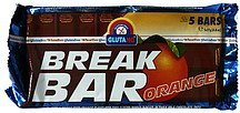 break bar orange Glutano Nutrition info