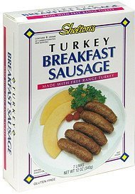 breakfast sausage turkey Sheltons Nutrition info