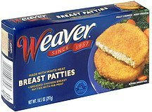 breast patties Weaver	 Nutrition info