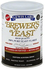 brewer's yeast Lewis Labs Nutrition info