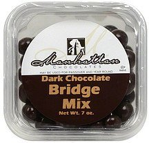 bridge mix dark chocolate Manhattan Chocolates Nutrition info