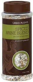 brine blend spiced, sea salt & herb blend Urban Accents Nutrition info