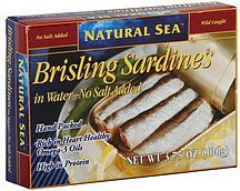 brisling sardines in water, wild caught Natural Sea Nutrition info