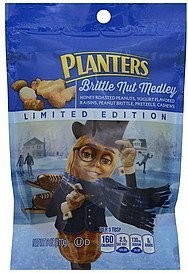 brittle nut medley Planters Nutrition info