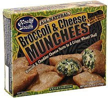 broccoli & cheese munchees Health is Wealth Nutrition info