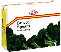 broccoli spears La Fe Nutrition info