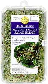 broccosprouts broccoli sprouts, salad blend Brassica Protection Products Nutrition info