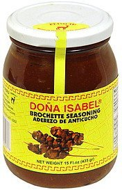 brochette seasoning Dona Isabel Nutrition info