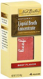 broth concentrate liquid, beef flavor Nash Brothers Trading Company Nutrition info
