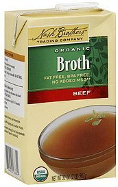 broth organic, beef Nash Brothers Trading Company Nutrition info