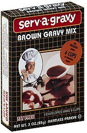brown gravy mix Serv-A-Gravy Nutrition info