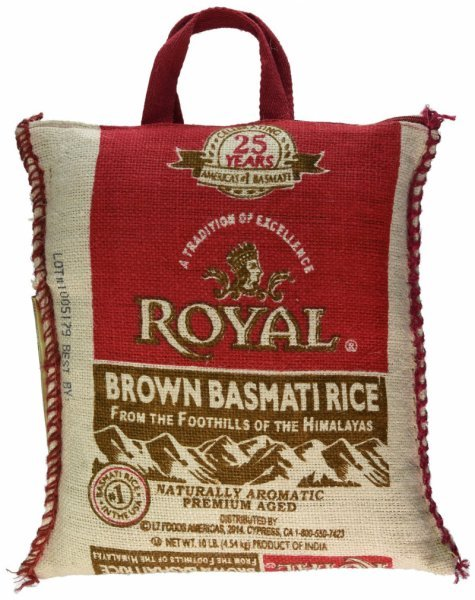 brown rice basmati Royal Nutrition info