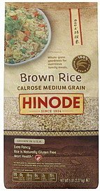 brown rice calrose medium grain Hinode Nutrition info