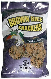 brown rice crackers Eden Nutrition info