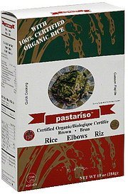 brown rice elbows Pastariso Nutrition info
