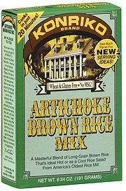 brown rice mix artichoke Konriko Nutrition info