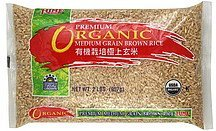 brown rice premium, medium grain, organic Hime Nutrition info