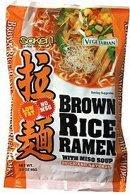 brown rice ramen with miso soup Soken Nutrition info