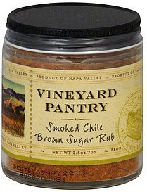 brown sugar rub smoked chile Vineyard Pantry Nutrition info