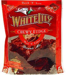 brownie mix chewy fudge White Lily Nutrition info