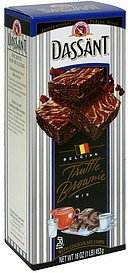 brownie mix truffle with chocolate chips, belgian Dassant Nutrition info