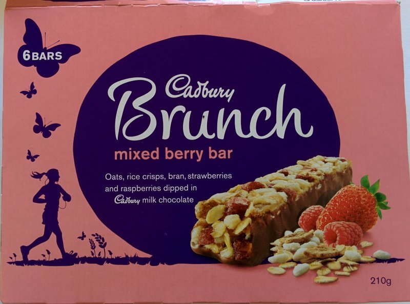 brunch bar mixed berry Cadbury Nutrition info
