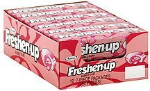 bubble gum Freshen-up Nutrition info