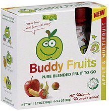 buddy fruits apple & multifruit Ouh LaLa Nutrition info