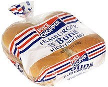 buns hamburger, enriched, sliced Price Chopper Nutrition info