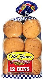 buns hamburger Old Home Nutrition info