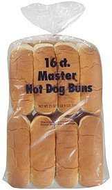 buns hot dog Master Nutrition info