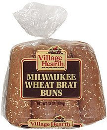 buns milwaukee wheat brat Village Hearth Nutrition info