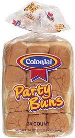 buns party Colonial Nutrition info
