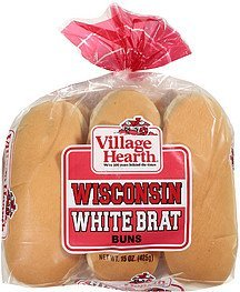 buns wisconsin white brat Village Hearth Nutrition info