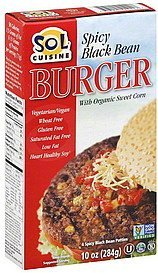 burger spicy black bean Sol Cuisine Nutrition info