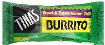 burrito beef & bean/green chili Tinas Nutrition info