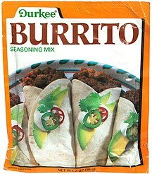 burrito seasoning mix Durkee Nutrition info