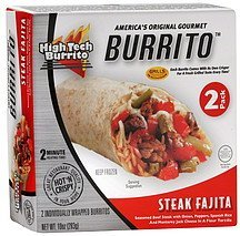 burrito steak fajita High Tech Burrito Nutrition info