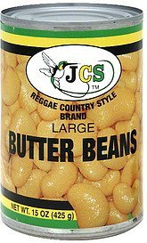 butter beans large Jcs Reggae Country Style Brand Nutrition info