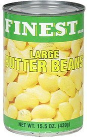 butter beans large Finest Brand Nutrition info