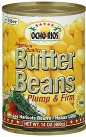 butter beans plump & firm Ocho Rios Nutrition info