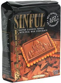 butter cookies topped with real milk chocolate, pre-priced Sinful Selections Nutrition info