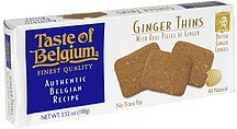 butter ginger cookies ginger thins Taste of Belgium Nutrition info