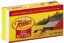 butter salted Kellers Nutrition info