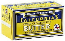 butter sweet cream salted Falfurrias Nutrition info