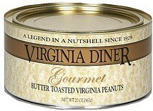 butter toasted virginia peanuts gourmet Virginia Diner Nutrition info