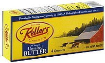 butter unsalted Kellers Nutrition info