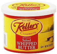 butter whipped, salted Kellers Nutrition info