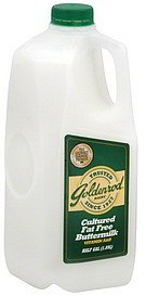 buttermilk cultured fat free Goldenrod Dairy Nutrition info