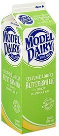 buttermilk cultured lowfat, 1% milkfat Model Dairy Nutrition info